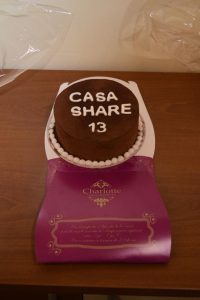 Happy Birthday, CASA SHARE 13! December  2016. Thank you, Charlotte!